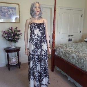 BCBG Paris Beige/Black  Empire Waist Maxi Dress 2